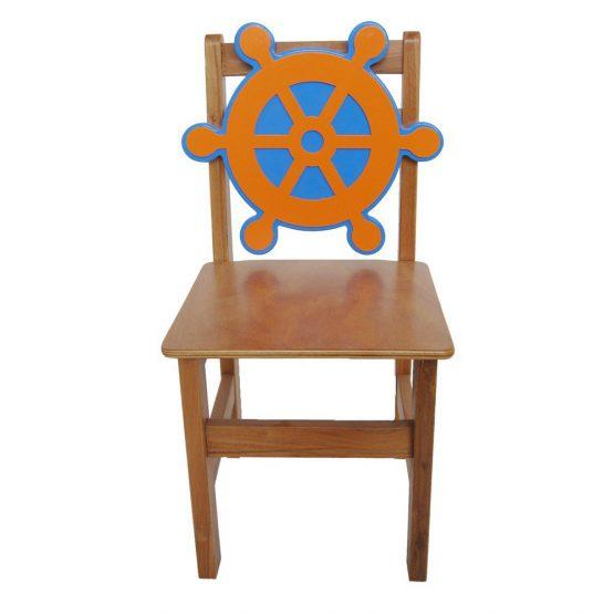 Gemi Dümeni Ahşap Sandalye