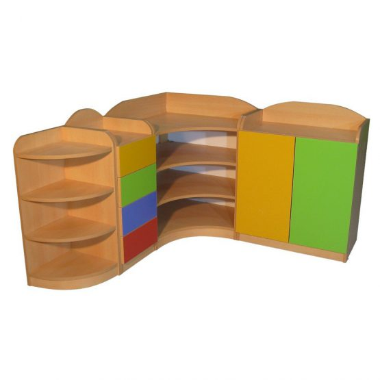 Montessori Köşe Dolap Seti Kayın