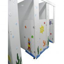 WC Tuvalet Kabini Kapı + Yan Panel