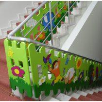 Boyalı Merdiven Çift Yüzlü Figürlü Çit