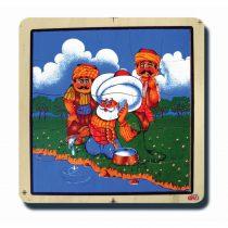 80010Nasreddin Hoca Göle Yoğurt Çalıyor 33x33cm 36 parça Ahşap Puzzle