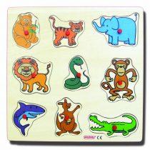 20105Playkids Vahşi Hayvanlar 30x30cm Ahşap Yapboz