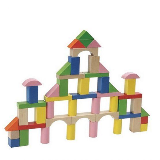 50 Parça Kutulu Ahşap Bloklar