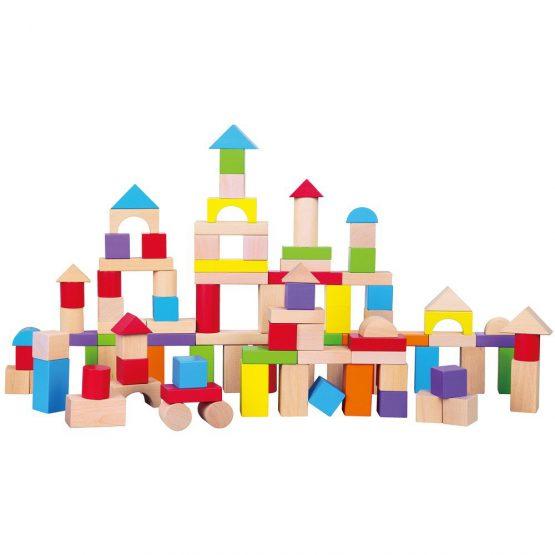 100 Parça Kutulu Ahşap Bloklar