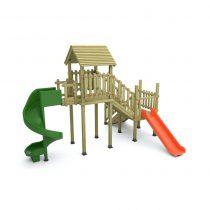 2 Kuleli 2 Kaydıraklı Oyun Parkı